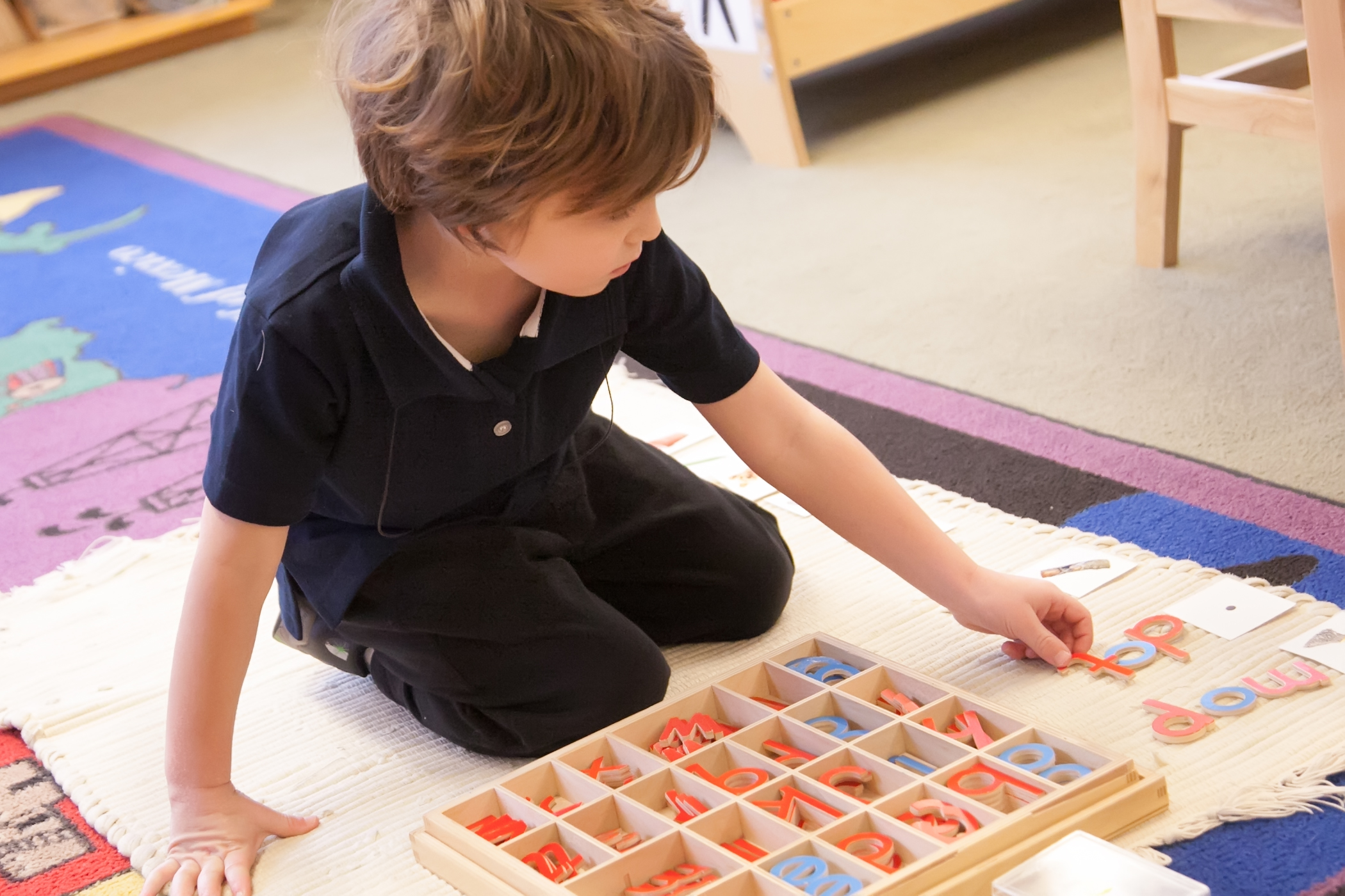 Montessori preschool lower merion movable alphabet